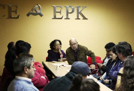 Constituyente: Exiliados se reúnen con comunistas españoles